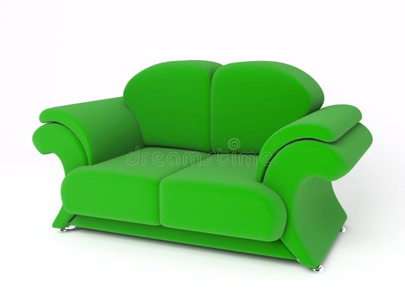 沙发3D 免版税库存图片