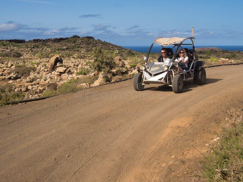 沙地汽车冒险,加那利群岛 免版税库存照片