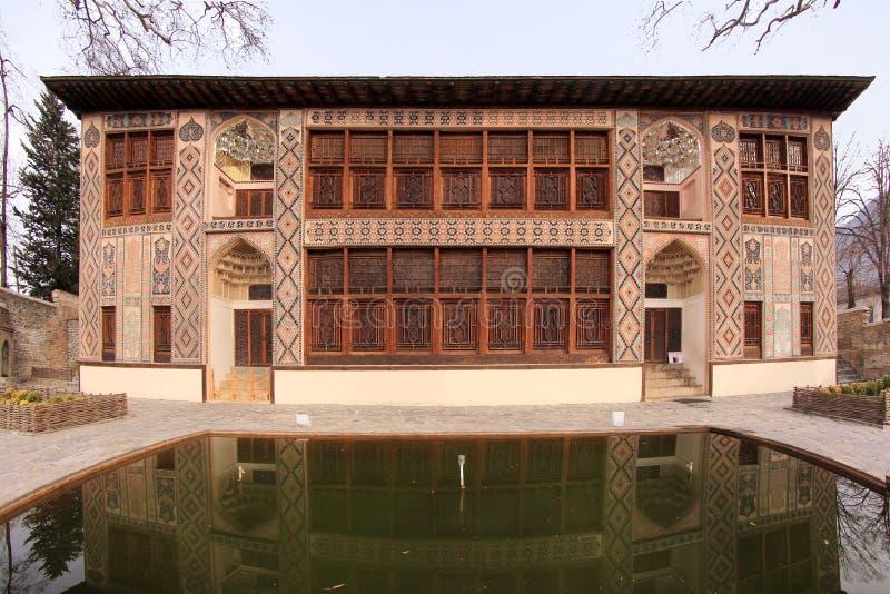 沙基Khans宫殿在沙基,阿塞拜疆 库存照片