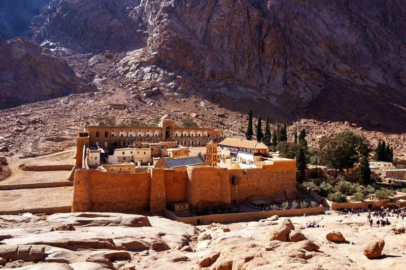 沙姆・谢赫,埃及- 2014年4月1日:St凯瑟琳的修道院 库存图片