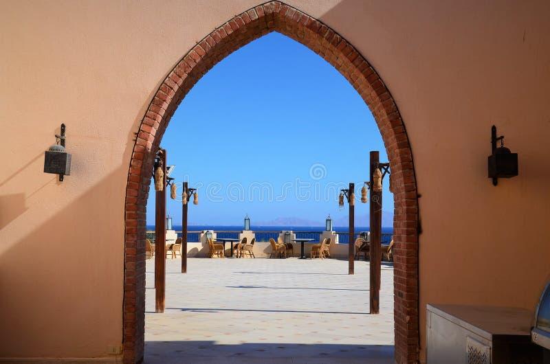 沙姆沙伊赫是在红海的岸的一个令人难忘的休假区 图库摄影