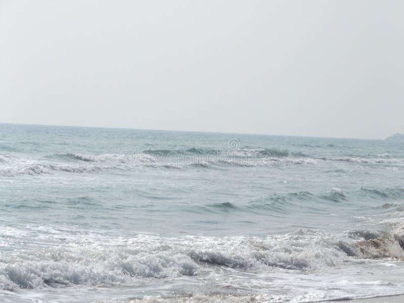 沙子、海滩和热的太阳 免版税库存图片