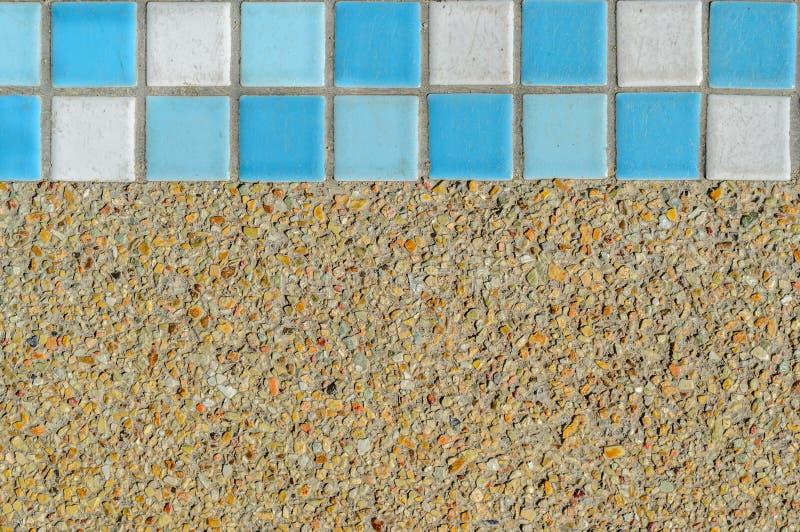 沙子具体纹理和马赛克 免版税库存图片
