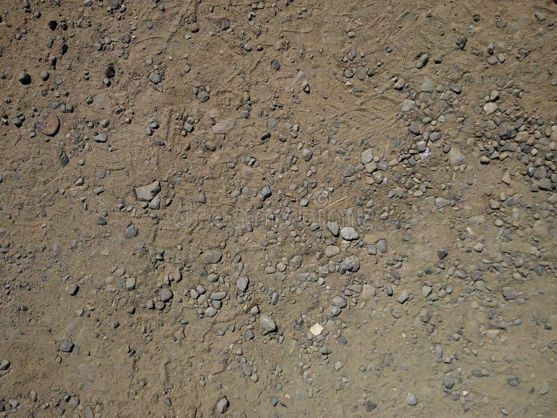 沙子和石渣 免版税图库摄影