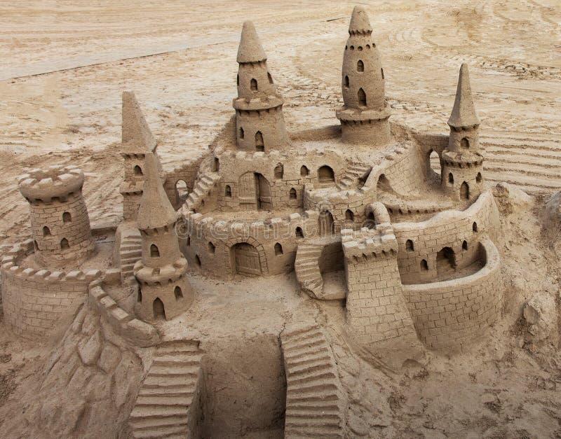 沙子城堡 库存照片