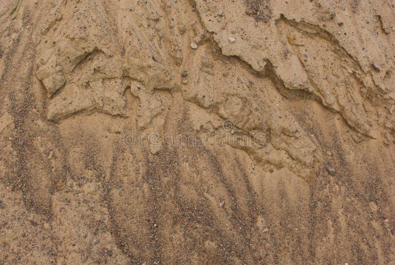 沙子堆表面被风化的纹理  免版税库存图片