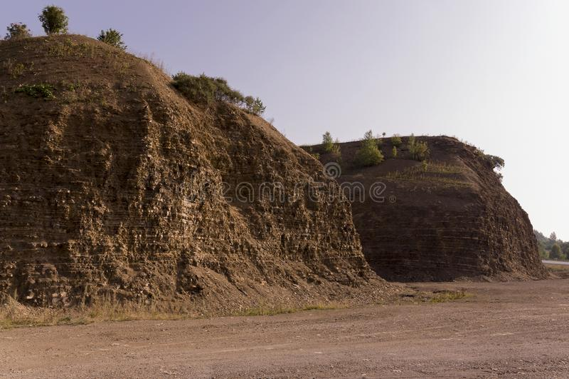 沙子山 乌拉尔风景 browne 沙漠喜欢 免版税库存图片