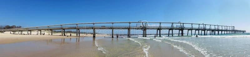 沙子抽的跳船英属黄金海岸澳大利亚 图库摄影