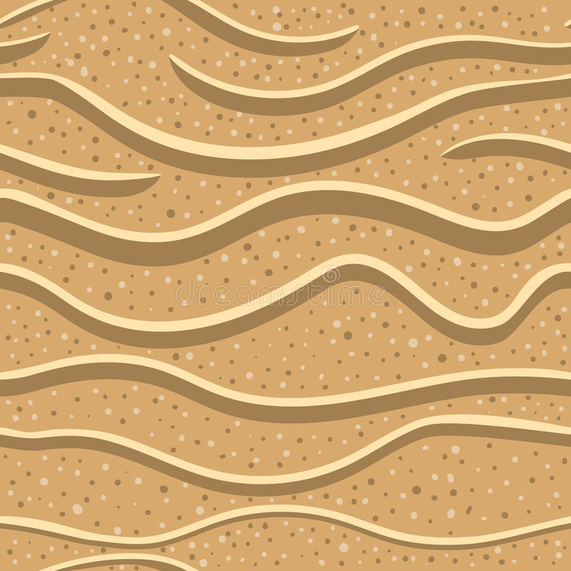 沙子无缝的样式2 库存例证