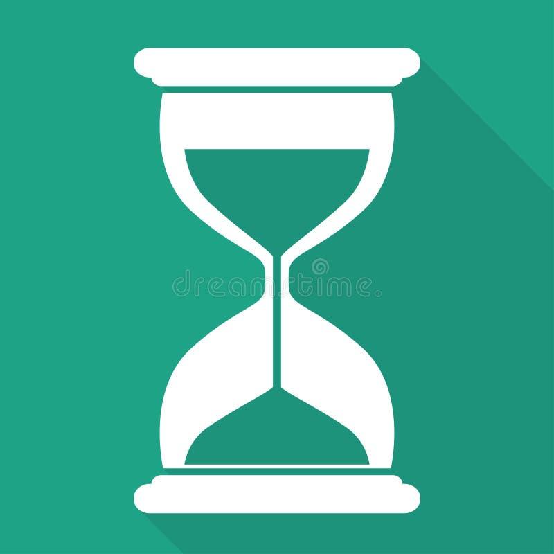 沙子时钟象。玻璃定时器标志 免版税库存图片
