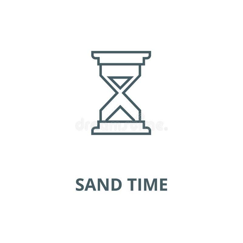 沙子时间传染媒介线象,线性概念,概述标志,标志 皇族释放例证