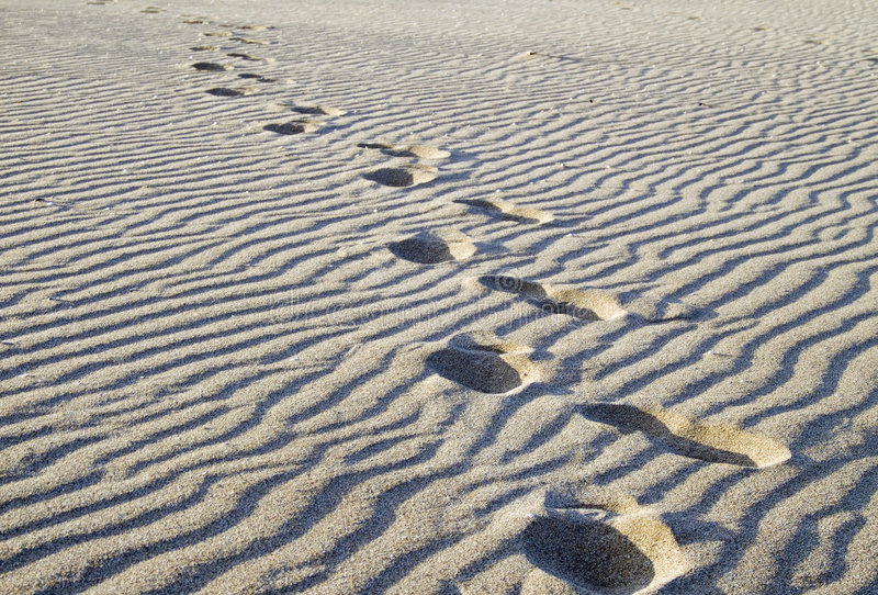 沙子步骤 库存照片