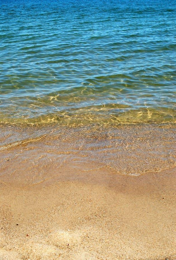 沙子水 免版税库存图片