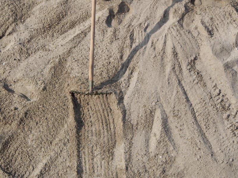 沙子特写镜头在海滩的 免版税库存图片