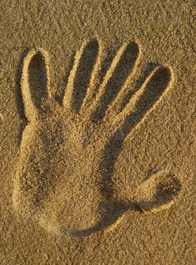 沙子现有量印花税 库存照片