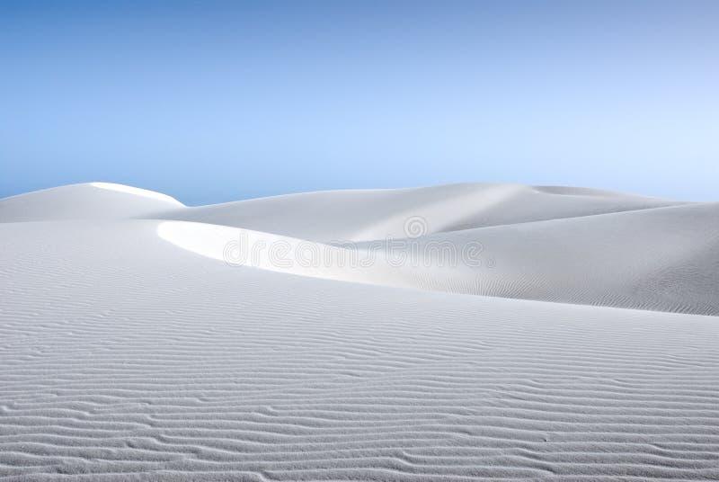 沙子白色 库存照片