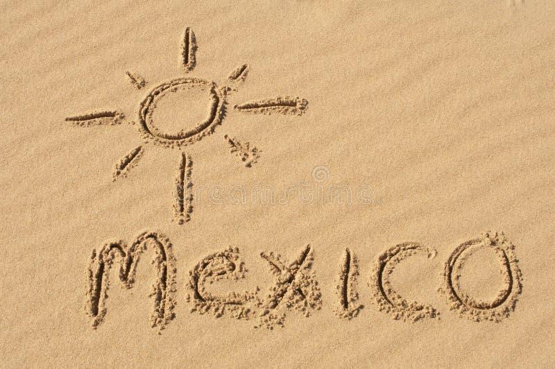 沙子的墨西哥 免版税库存图片