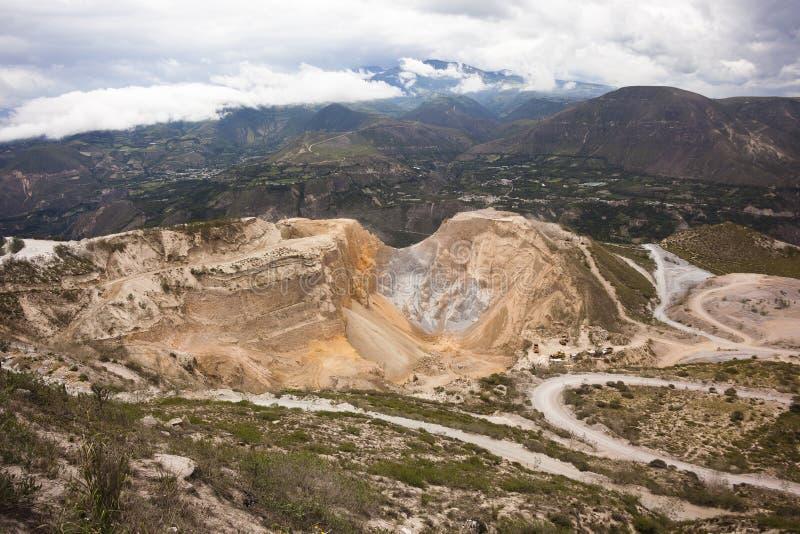 沙子矿,基多,厄瓜多尔 库存照片