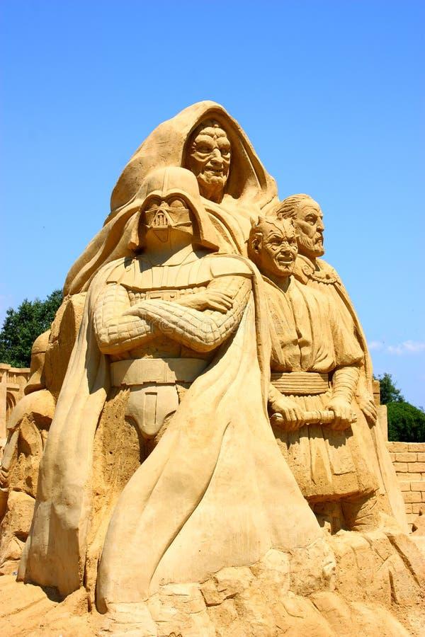 沙子雕塑星球大战 免版税库存照片