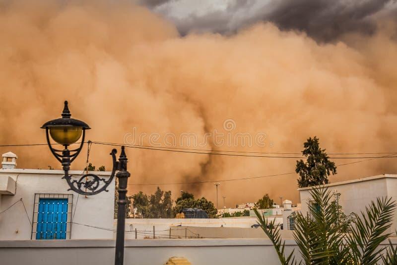 沙尘暴在加夫萨,突尼斯 图库摄影