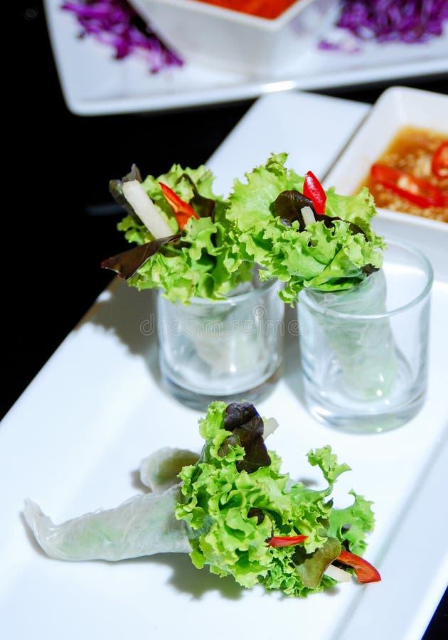 沙拉卷菜 免版税图库摄影