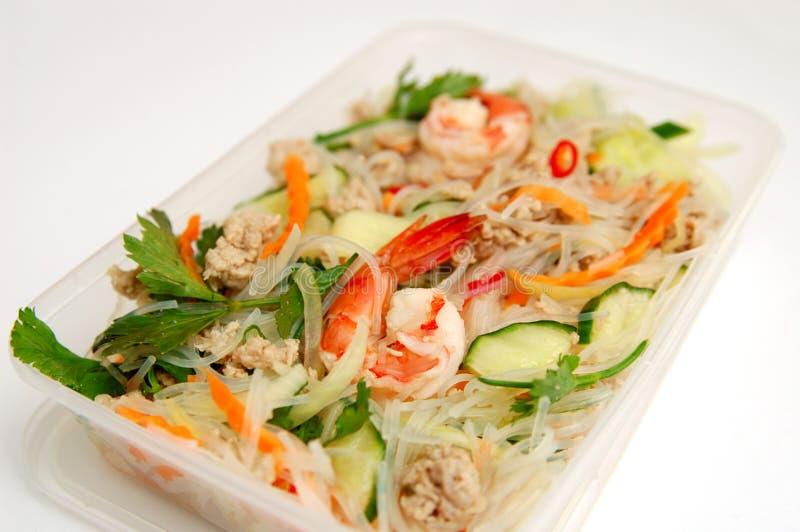 沙拉海鲜辣泰国 免版税库存照片
