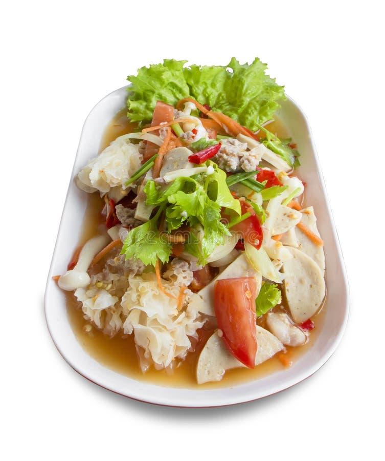 沙拉海鲜辣泰国 库存图片