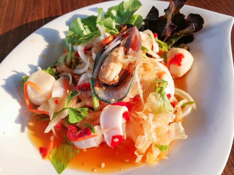 沙拉淡菜海鲜 库存照片