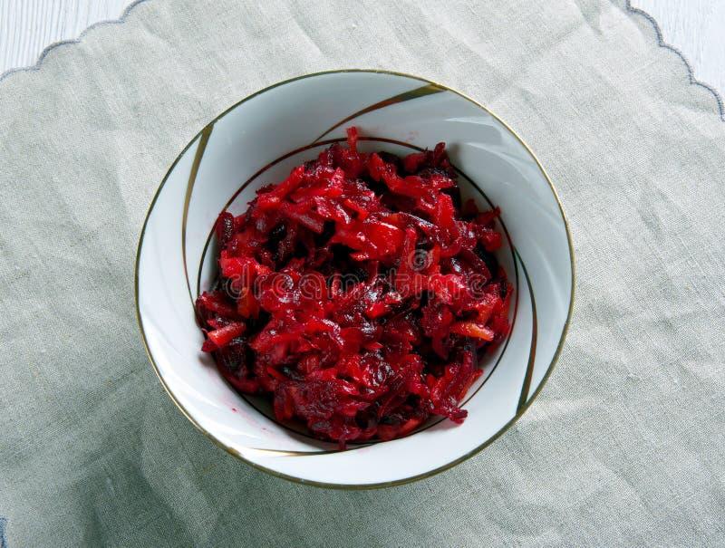 沙拉甜菜根红萝卜 免版税库存照片