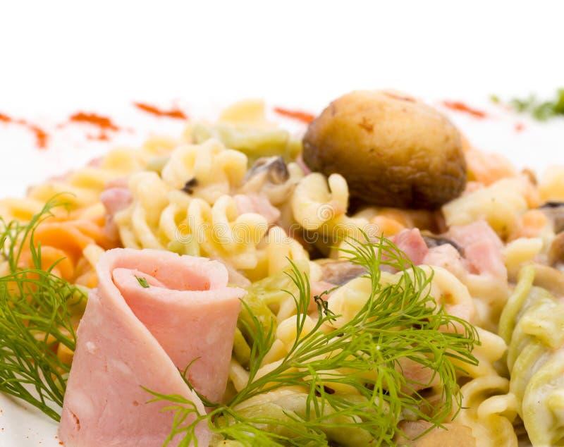 沙拉用火腿和菜 库存图片