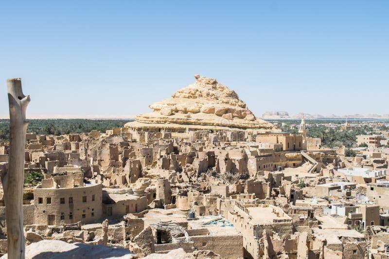 沙梨Schali堡垒寺洼绿洲老镇在埃及 图库摄影