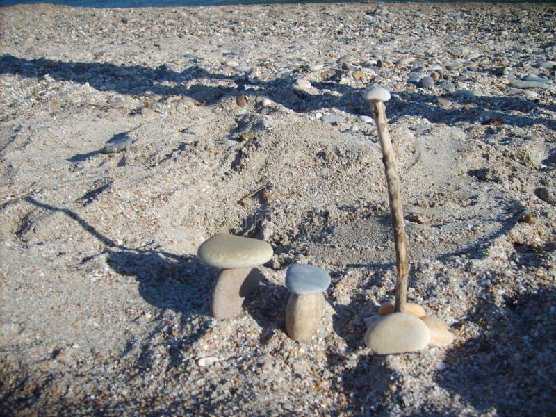 沙滩上石头的幻想 蒙彼利埃 库存照片