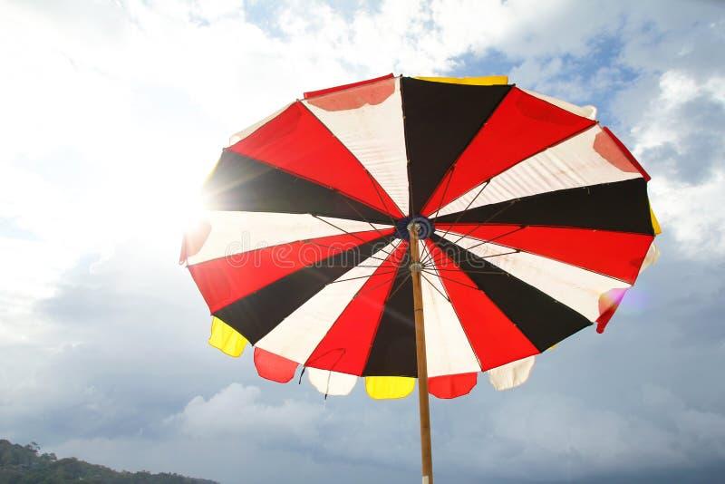 沙滩伞2019年 免版税库存照片