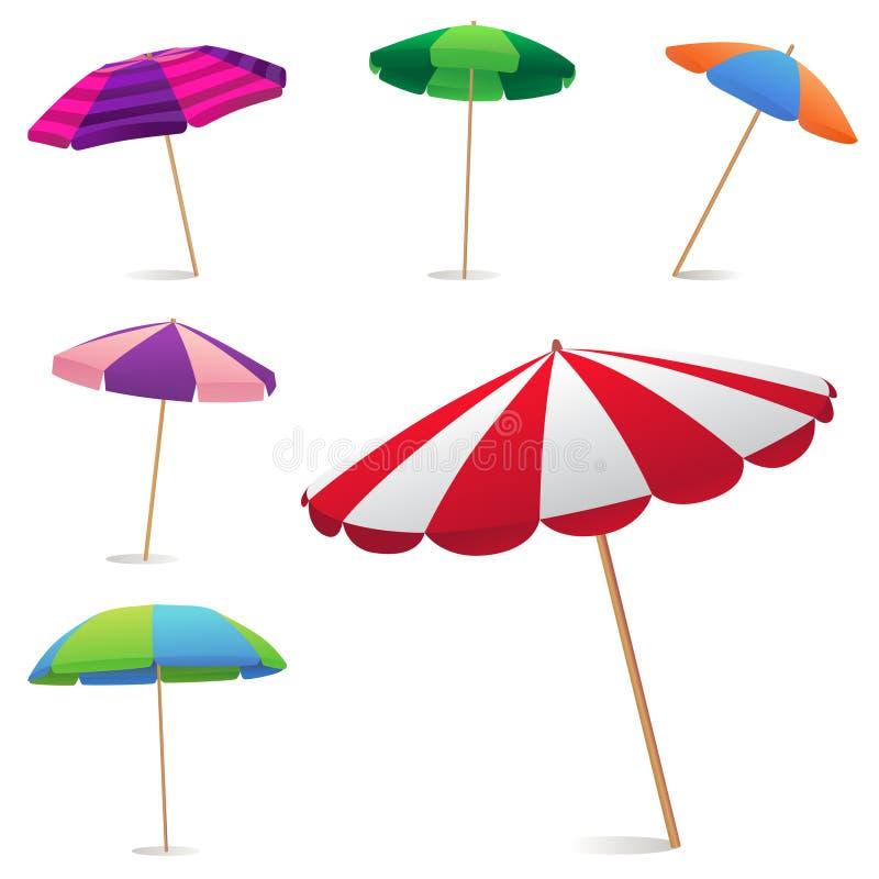 沙滩伞 向量例证