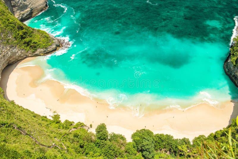 沙滩海水夏天休假移动背景顶视图 库存图片