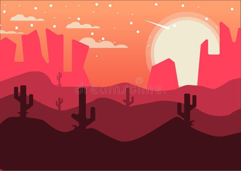 沙漠下午背景 免版税库存照片