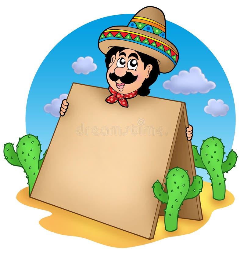 沙漠人墨西哥表 库存例证