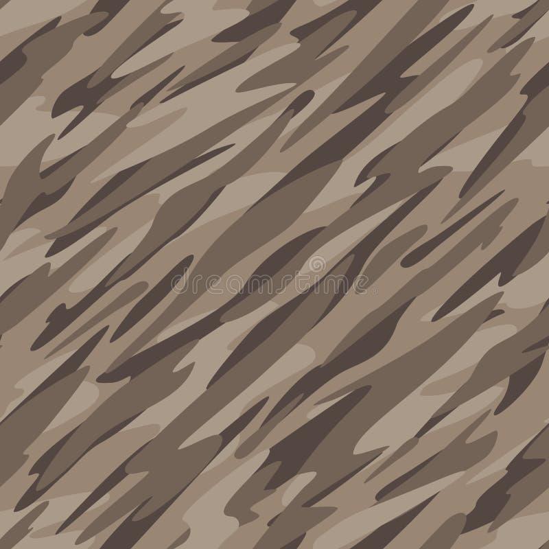 沙漠伪装摘要无缝的重复的样式传染媒介例证 向量例证