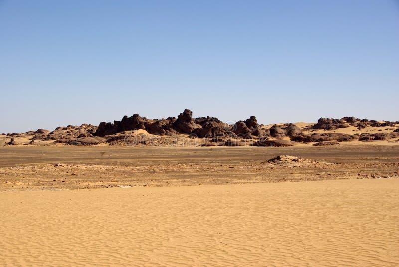 沙漠利比亚 免版税库存照片