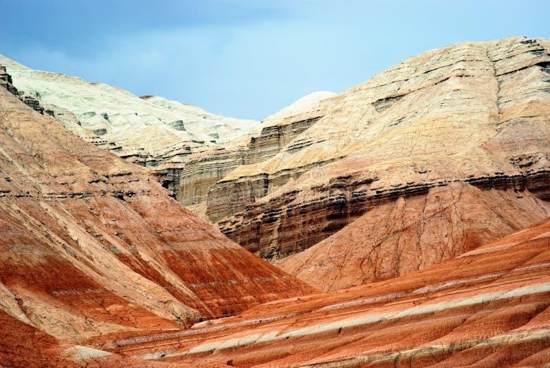 沙漠卡扎克斯坦山 库存照片
