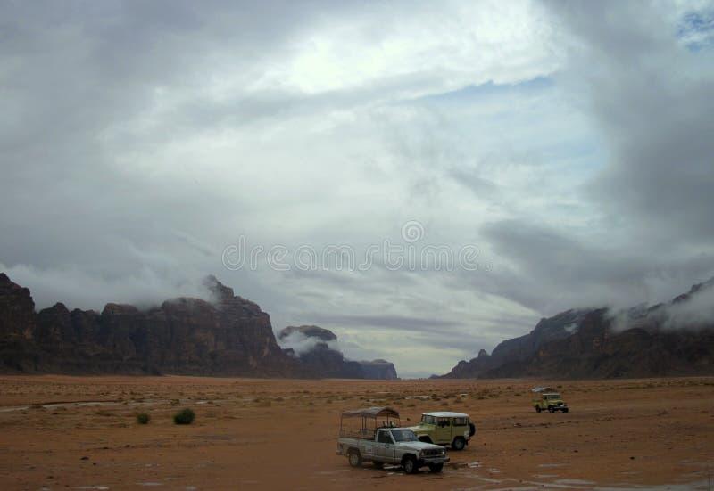 沙漠可怕的天空  免版税库存图片