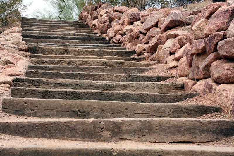 沙漠台阶 免版税库存照片