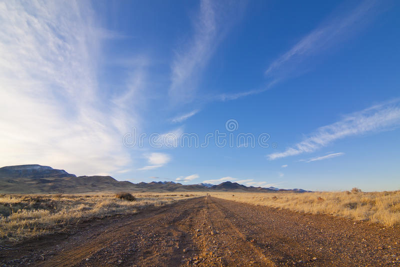 沙漠土路 图库摄影