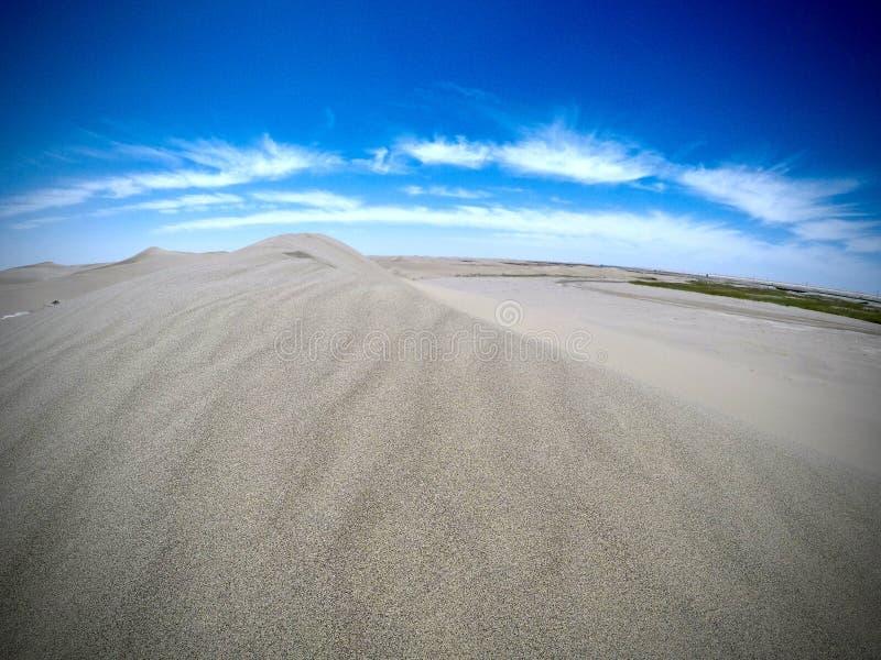 沙漠在内蒙古 免版税库存图片