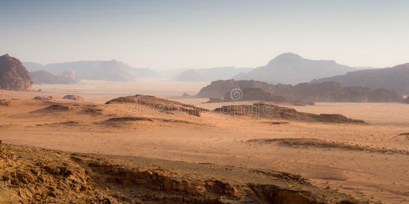 沙漠在早晨-约旦 图库摄影