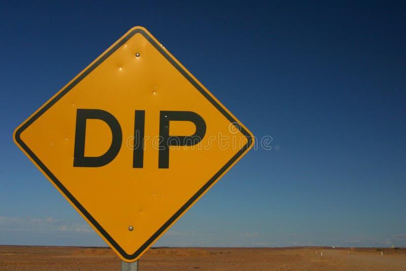 沙漠垂度符号 图库摄影