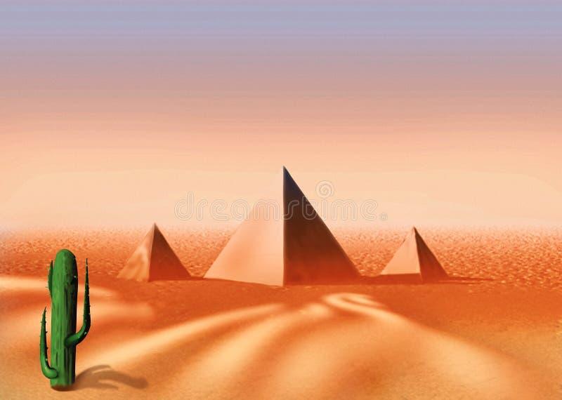 沙漠埃及人 皇族释放例证
