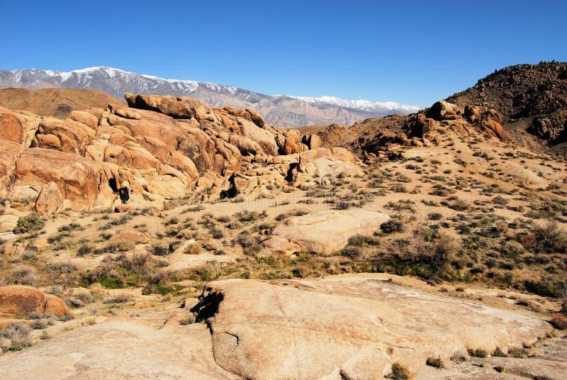 沙漠小山山 免版税图库摄影