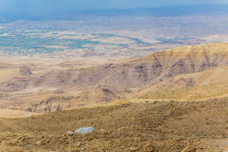 沙漠山风景,约旦,中东 库存图片