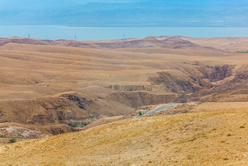 沙漠山风景,约旦,中东 免版税库存照片